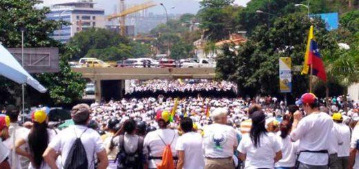 Marcha del Silencia arranca en Caracas / Foto: Twitter