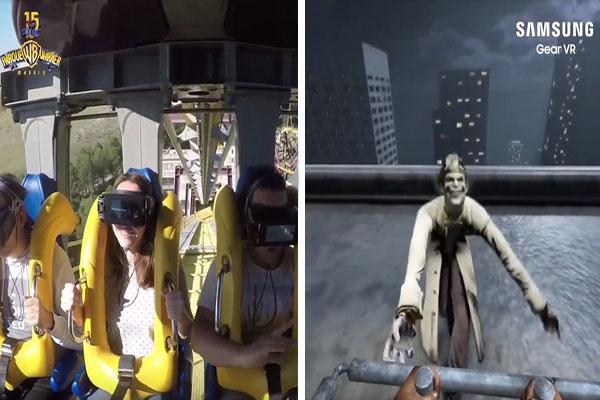 Samsung se alía con Parque Warner para ofrecer la primera montaña rusa con realidad virtual en España | Captura de video