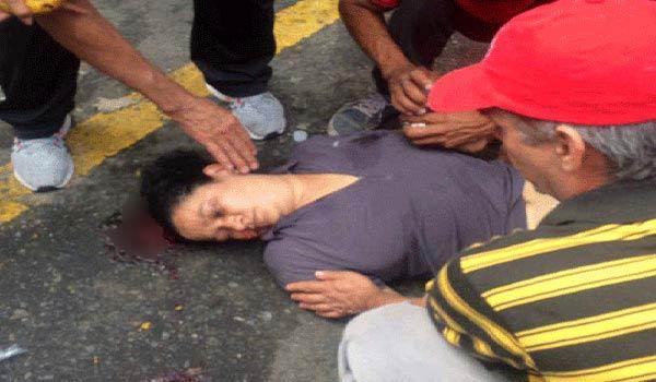 Mujer agredida en La Candelaria   Foto: Twitter