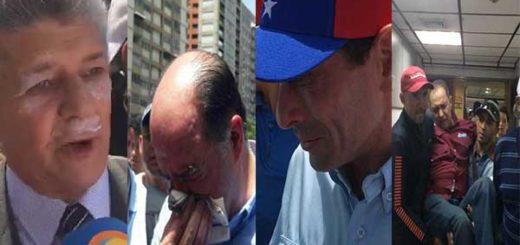 Diputados opositores fueron reprimidos brutalmente con bombas lacrimógenas | Composición: NotiTotal
