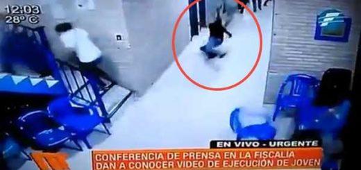 Policías asesinan a un joven en sede del PLRA en Paraguay | Foto: Captura de video