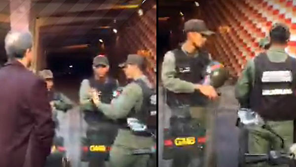 GNB impide paso a los diputados | Fotos: captura de video