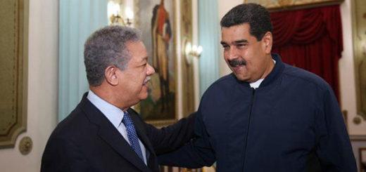 Leonel Fernández y Nicolás Maduro | Foto: @PresidencialVen
