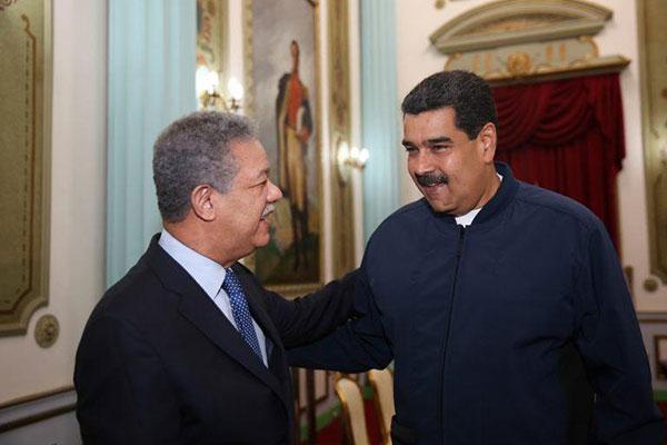 Leonel Fernández y Nicolás Maduro   Foto: @PresidencialVen