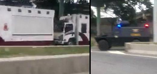 Presencia de PNB y GNB en la Francisco Fajardo | Imagen: Captura de video