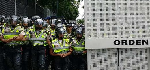 Piquete de la PNB en Los Chaguaramos / Foto: Twitter