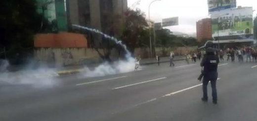 Reprimen protesta en la Francisco Fajardo | Foto: Captura de video