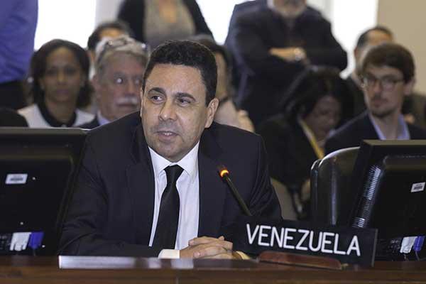 Embajador de Venezuela en la OEA, Samuel Moncada | Foto: Agencias