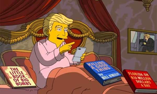 Donald Trump en Los Simpson | Imagen: captura de video