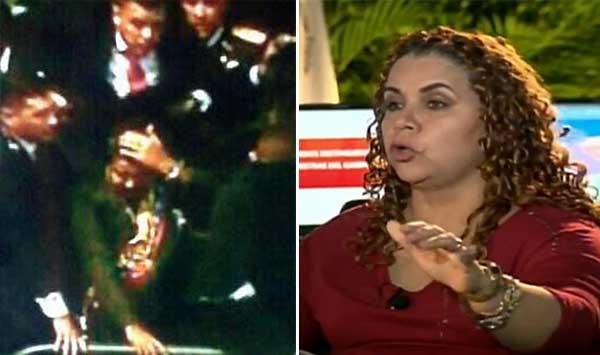 Iris Varela responsabilizó este miércoles al gobernador de Miranda, Henrique Capriles, de lo ocurrido en San Félix   Composición