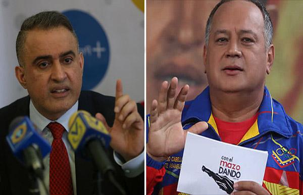 Tarek William Saab / Diosdado Cabello | Composición: NotiTotal