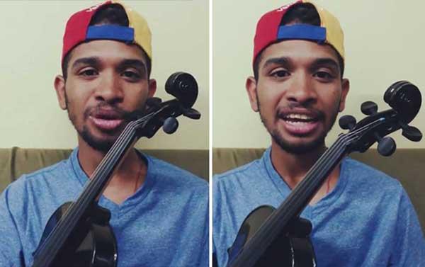 El violinista venezolano, Wuilly Arteaga | Captura de video