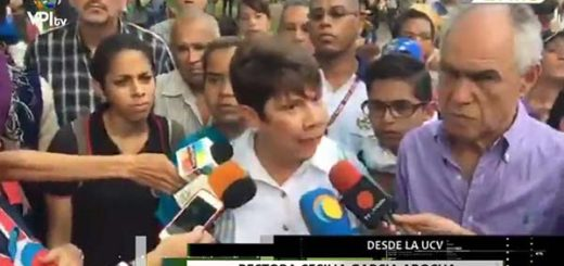 Rectora de la Universidad Central de Venezuela (UCV), Cecilia García Arocha | Captura de video