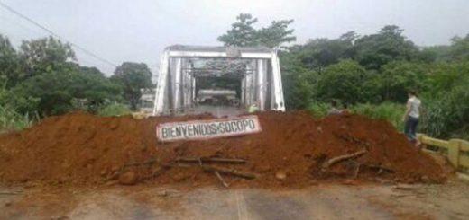 Barricadas en Barinas, Socopó |Foto Twitter