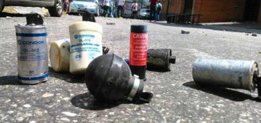 Cartuchos de bombas lacrimógenas | Foto: Archivo