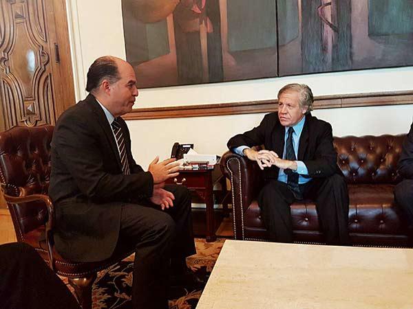 Julio Borges se reúne con Luis Almagro |Foto: Twitter