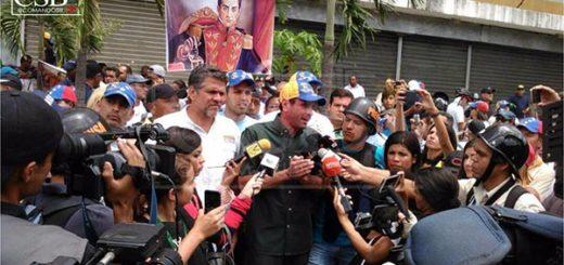 Capriles durante Marcha de Los Libertadores  Foto: Comando Simón Bolívar