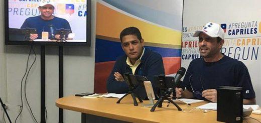 Henrique Capriles Radonski, gobernador del estado Miranda   Foto: Captura de video