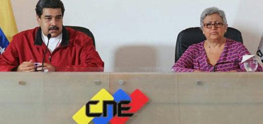 Maduro entregó bases comiciales a Tibisay Lucena para la Constituyente | Foto: