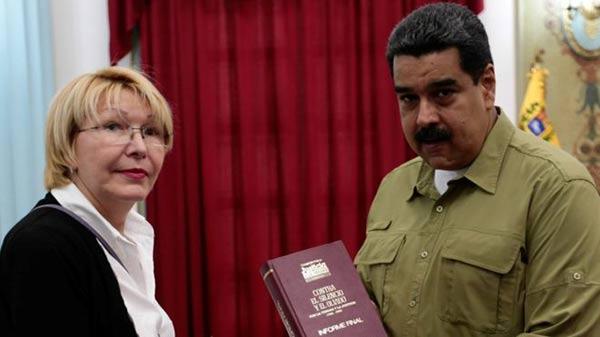 Fiscal Luisa Ortega Díaz y Nicolás Maduro |Foto: Reuters