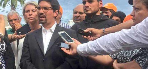 Freddy Guevara durante actos en homenaje al activista de VP, César Pereira | Foto: @ArmandoArmas