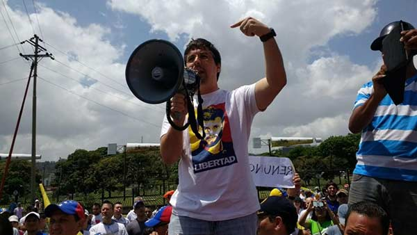 Diputado Freddy Guevara durante participa el Gran #Plantón |Foto archivo