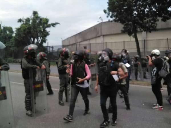 GNB impidió el acceso a la prensa |Foto: Román Camacho