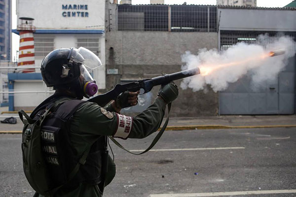 GNB reprime a manifestantes opositores |Foto cortesía