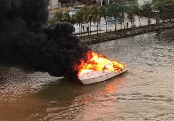 Se incendió lancha privada en el Lago de Maracaibo | Foto: Panorama