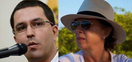 Valentina Quintero critica la 'minería ilegal' a cargo de Jorge Arreaza |Composición