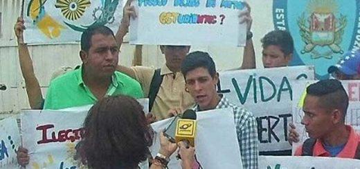 Jóvenes protestaron en Polianzoátegui por el asesinato de César Pereira | Foto cortesía