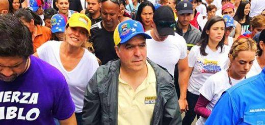 Presidente de la Asamblea Nacional, Julio Borges durante marcha |Foto: Twitter