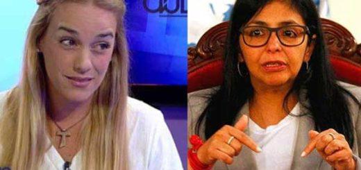 Delcy Rodríguez arremete contra Lilian Tintori  Composición: Notitotal