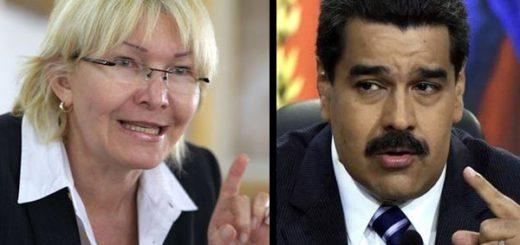 Luisa Ortega Díaz y Nicolás Maduro |Composición: Notitotal
