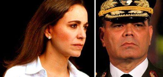María Corina Machado carga contra acciones de Vladimir Padrino López |Composición: Notitotal