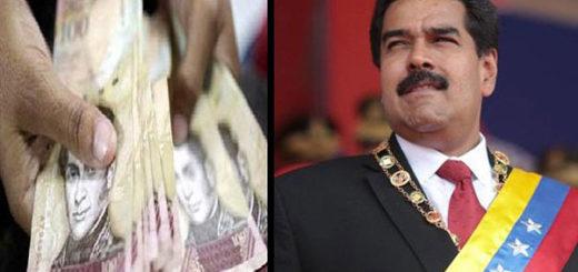 Nicolás Maduro continúa improvisando con los billetes |Composición: Notitotal