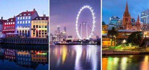 Copenhague - Singapur - Melbourne (de izquierda a derecha) |Composición: La Bioguía
