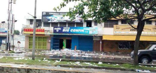 Valencia sufrió estragos de los saqueos la noche del #2Mayo |Foto: @AndrewsAbreu