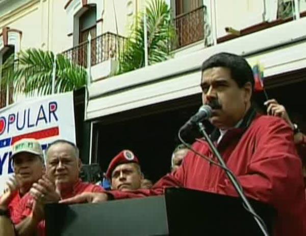Nicolás Maduro desde el Palacio de Miraflores |Foto: Vtv