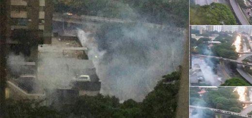 Reportan fuerte represión contra vecinos de El Paraíso | Fotos: Vía twitter