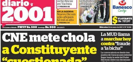 Portada diario nacional |Foto: Redpres