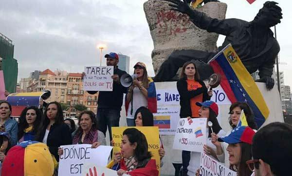 Venezolanos en el Líbano alzan su voz contra Saab |Foto: Twitter