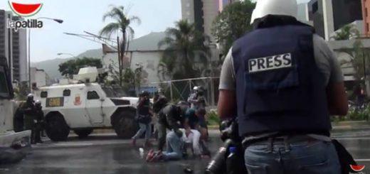 Represión contra la prensa y civiles |Foto: La Patilla