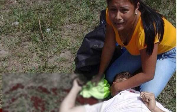 Samuel Castellano recibió un disparo en el cuello |Foto: @aliciadigiorgio