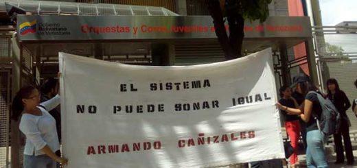 Músicos protestaron por la muerte de Armando Cañizales   Foto: El Impulso
