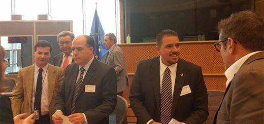 Diputados Stalin González y Julio Borges durante viaje a Roma | Foto: Twitter