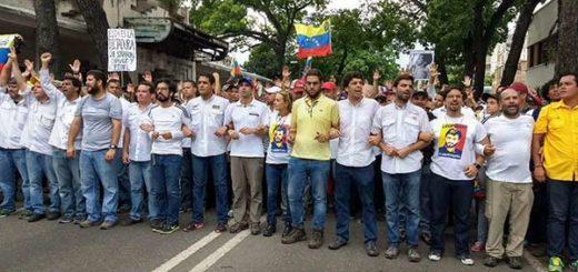 Dirigentes de la Mesa de la Unidad Democrática (MUD) |Foto cortesía
