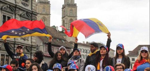 Venezolanos en Zúrich protestaron contra Nicolás Maduro |Foto Twitter