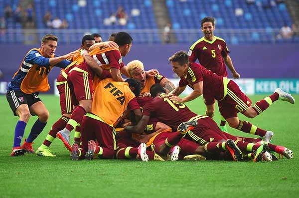 Venezuela logra un pase histórico en el Mundial Sub-20 tras vencer a Japón | Foto: Agencias