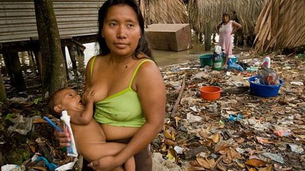 La mayoría de los waraos viven en casas construidas sobre el agua en la desembocadura del río Orinoco, en el este de Venezuela  Foto: Getty Images